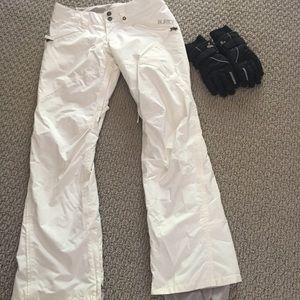 Burton snow pants and Gordini gloves